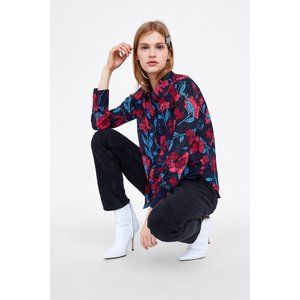 NWT Floral Printed Button-down by Zara